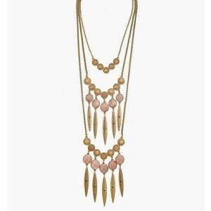 NWT Lucky Brand druzy layer necklace